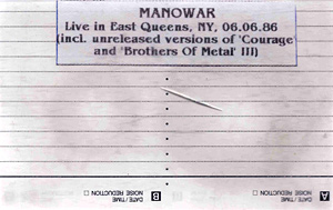 Manowar - Live in New York 1986